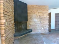 The mantel in the study of this abandoned Arthur Elrod house in Oklahoma City.  I want!