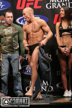 UFC George St. Pierre (and lol @ joe looking at his package)