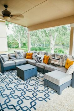 Check out this cozy outdoor patio space!