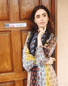 Lily Collins. Pinned by @lilyriverside