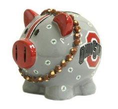 Ohio State Buckeyes NCAA Thematic Resin Team Logo Piggy Bank
