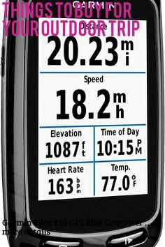 Garmin Edge 810 GPS Bike Computer (This is an affiliate pin) Gps Bike, Camping Gadgets