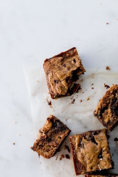 Brown butter, miso & walnut dark chocolate blondies - The Brick Kitchen