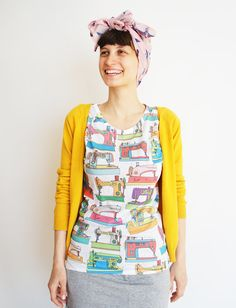do want! Printed vintage sewing machines tshirt for women by mandalinarossa, $40.00