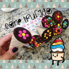 Cone trufado - Casquinha de sorvete recheada -  Como fazer -Páscoa