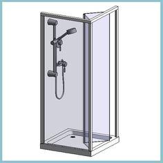 Quadrant Enclosure Box with Rayo Manual Mixer Shower ...