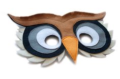 Handmade felt Owl mask! Part of Woodland creature Owl costume.Owl mask is great for Halloween, carnivals and costume parties. Also, its a fun part of pretend play, dress-ups, and imaginative games. Perfect for children theater and themed activities. Its a sweet Birthday gift or can be a