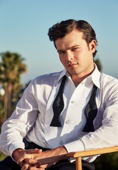 Alden Ehrenreich, photographed at the Beverly Hills Hotel. Photograph by Patrick Demarchelier. Styled by Jessica Diehl.
