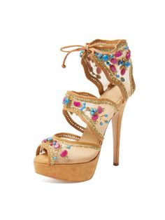 3a920a4ca4a Arizona Embellished Platform Sandal by Charlotte Olympia at Gilt Ankle  Straps