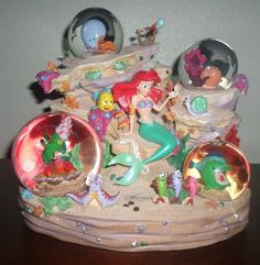 RARE Little Mermaid Ariel Friends Disney Musical Snow Globe Under The Sea | eBay