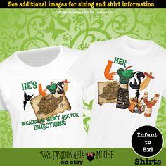 Peter Pan Couple Shirts, Disney Couple Tanks, Lost Boy Shirt, Her Lost Boy Shirt, Tinkerbell Shirt, Peter Pan Shirt, Funny Disney Tank by TheFashionableMouse on Etsy