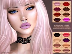 The Sims Resource: School gilrl lipstick by ANGISSI • Sims 4 Downloads