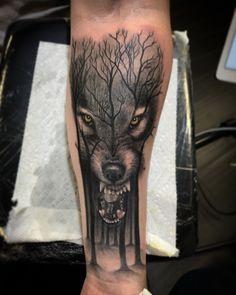 Wolf Tattoos Men, Animal Tattoos, Tattoos For Guys, Skull Sleeve Tattoos, Tattoo Sleeve Designs, Cover Tattoo, S Tattoo, Scary Tattoos, Tatoos