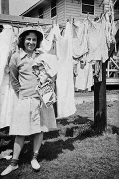 WAC on a wash day, April 1944 - The Betty H. Carter Women Veterans Historical Project -UNCG University Archives