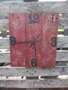 Repurposed Wood Pallet Clock by VictoryWoodShop on Etsy, $35.00