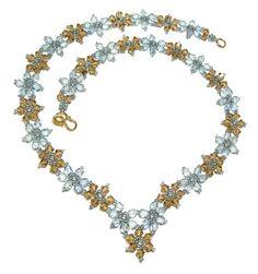 bead weaving star bracelet free pattern | Crystal Flower Necklace