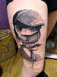 Here's something cool by ToKo Lören. He'll be tattooing at The British Tattoo Show this May. French Tattoo Scene. #tattoo #tattoos #ink