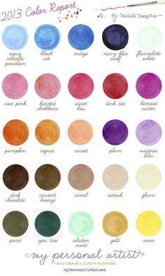 paleta de colores para el 2013