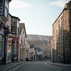 Winding hill in St. Ives, England