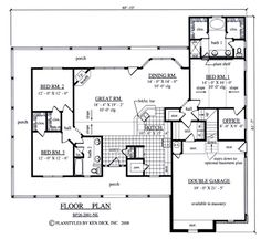 First Floor Plan of Country   House Plan 75012