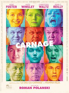 Carnage directed by Polanski. Phenomenal adaptation of the play.