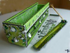 Un bijou de boîte zen de modèle unique en bois et son porte encens assorti  °°Om Mani Pädme Hum°° - 52€