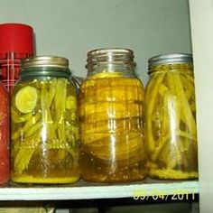 Crisp Pickled Green Beans..trying this fall!