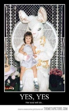 Where did all the creepy Easter bunnies come from?!