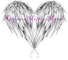 angel wing tattoo design by KristenMM