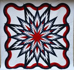 Feathered Star Queen, Quiltworx.com, Made by CI Jan Mathews.
