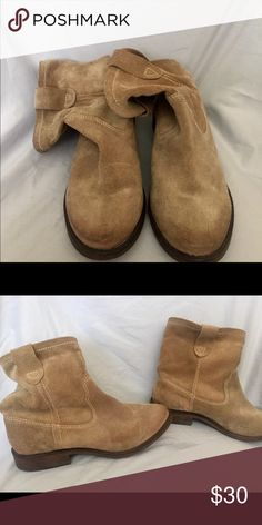 Leather slouch ankle boots size 6.5 Leather slouch ankle boots Zigi Soho Shoes Ankle Boots & Booties
