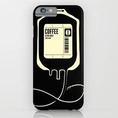 Coffee Transfusion - Black iPhone & iPod Case by Tobe Fonseca. Worldwide shipping available at Society6.com. Just one of millions of high quality products available.