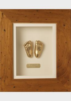"Cast your newborns feet as a ""momentoe"". I did this for my son and have loved every minute of it!"