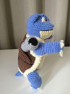 Ravelry: Blastoise pattern by Edward Yong Pokemon Blastoise, Crochet Pokemon, New Adventures, New Zealand, Ravelry, Dinosaur Stuffed Animal, Crochet Patterns, Crochet Hats, Crafty