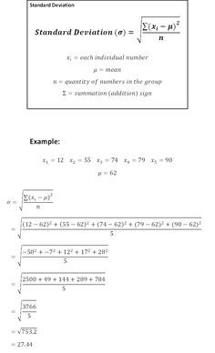 Standard Deviation Cheat Sheet - wikiHow
