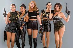 Taylor Swift Bad Blood Halloween Costume DIY | How to DIY Taylor Swift's Badass Bad Blood Group Costumes | Brit ...