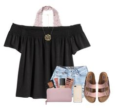 """""""At the Beach!!!!"""" by smiles-iv ❤ liked on Polyvore featuring Free People, Birkenstock, Urban Decay, NARS Cosmetics, Too Faced Cosmetics and Kate Spade"""