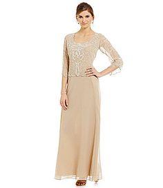 Jkara Petite 34 Sleeve Beaded Gown #Dillards