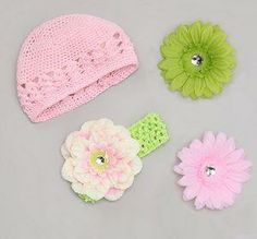 Special Offer on Facebook! Like us and claim your offer for this cute hat, headband and flower set for $4.95