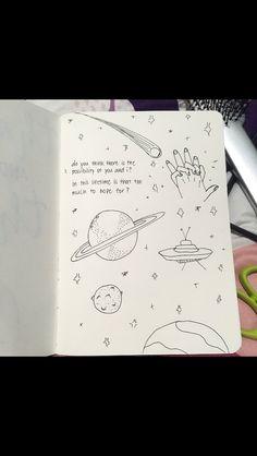 art sketchbook Art Sketchbook Ideas Pencil Drawings Of Ideas Space Drawings, Doodle Drawings, Easy Drawings, Doodle Art, Pencil Drawings, Kunstjournal Inspiration, Bullet Journal Inspiration, Journal Ideas, Drawing Quotes
