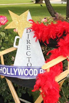 Photo props at a Hollywood party! See more party planning ideas at CatchMyParty.com!