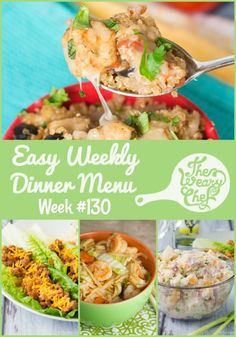 This week's menu of easy dinner recipes includes Tex-Mex Quinoa Skillet, Rice Noodles with Shrimp, BBQ Lettuce Wraps, and lots more!