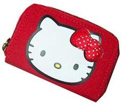 Amazon.com: Sanrio Hello Kitty Red Zip Around Wallet- Red Polka Dot Bow, Polka Dot Design: Shoes