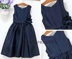 Hey, I found this really awesome Etsy listing at https://www.etsy.com/listing/216342681/simple-navy-blue-taffeta-flower-girl