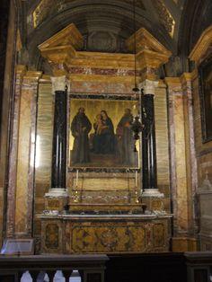 Antoniazzo Romano, Madonna fra San Francesco e San Antonio di Padova, Chiesa di sant Antonio dei portoghesi, Roma.