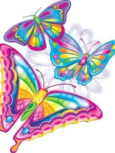Bunter Schmetterling – Julie Barbey – Join in the world Rainbow Butterfly, Butterfly Kisses, Butterfly Art, Lisa Frank Stickers, Butterfly Pictures, Butterfly Wallpaper, Beautiful Butterflies, Coloring Pages, Clip Art