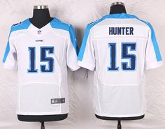 9ef7ead43 White Justin Hunter Men s Elite Tennessee Titans  15 Road NFL Jersey  Kendall Wright