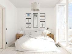 дизайн белой спальни в скандинавском стиле