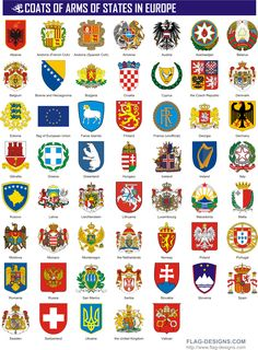 Coats of Arms of States in Europe