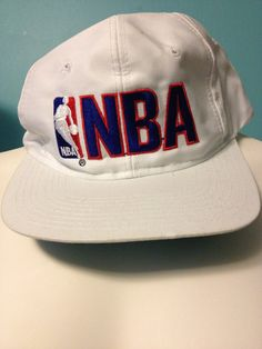 58db269e49b White NBA 90s Vintage SnapBack Hat    Ready to Ship on Etsy
